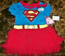 "New"" Dc Comics Supergirl ~ Glitter Tutu Costume Dress w/ Cape ~ Girl's Sz 18M"