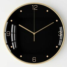 Nordic Large Wall Clock Metal Luxury Black Silent Clocks Wall Home Simple Living