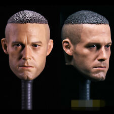"Crew Cut Short Hair Ben Affleck Head Carving 1/6 F 12"" Female Action Figures"