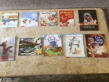 Lot of 10 Children's Winter Christmas holiday paperback picture books