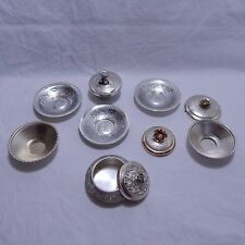 Group of Small Silver Tone Dishes (3 14'' to 2'' in diameter)
