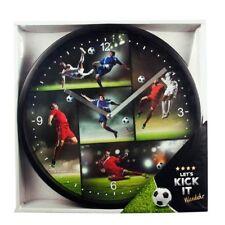 Trendhaus Wanduhr Fussball  LET'S KICK IT Uhr 25,5 cm