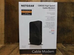 Netgear High-Speed Cable Modem DOCSIS 3.0 680Mbps Download Speed Black