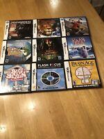 LOT of 9 Nintendo DS GAMES! Transformers, Narnia, Super Bass, Tony Hawk, more