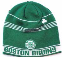 Boston Bruins Reebok Face Off Hockey St. Patty's NHL Knit Beanie Hat Toque