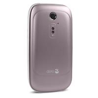 BRAND NEW Doro 6520 Mobile Phone ROSE  WHITE Big Button Flip Seniors OAPs