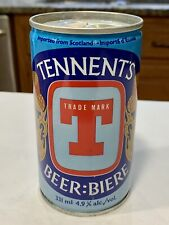 New listing Vintage Tennent'S Beer can - Pop Top,Bottom Opened,Empty,Scotland, Crimped St