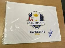 RYDER CUP GOLF FLAG 2016 HAZELTINE SIGNED BY ANDY SULLIVAN COMES WITH COA
