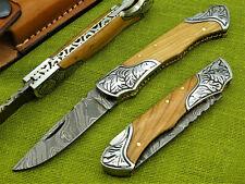 Damastmesser Taschenmesser Jagdmesser-Damast taschenesser- Klappmesser   (T8)