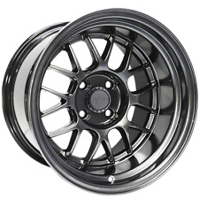 7 Twenty Style 44 Alloy Wheels 4X100 15X9J ET0 Hyper Black MX5 Lupo Civic