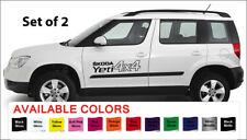 "Skoda Yeti 4x4 Car Body Vinyl Sticker Decals - Set of 2 Large  - 22"" x 5"""