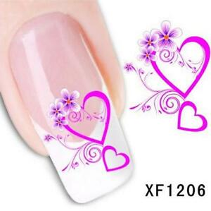 Heart Love Nail Art Sticker Decal Decoration Manicure Water Transfer