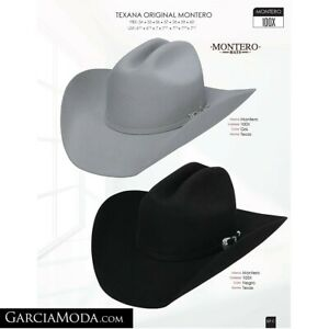 MEN'S WESTERN COWBOY RODEO HAT BLACK FELT STYLE COWBOY TEXANA VAQUERA 100X