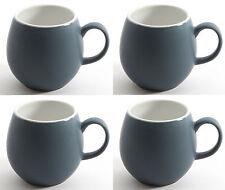 LONDON Pottery Juego de 4 GRES Guijarro TAZAS PIZARRA AZUL Caja Regalo Té Café