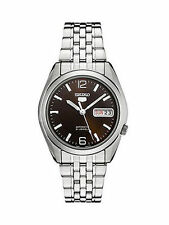 Seiko 5 Armbanduhren aus Edelstahl mit Datumsanzeige für Herren