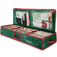"""Underbed Holiday Gift Wrap Storage Box Fits 18-24 Rolls 40"""" Long Green"""