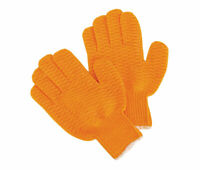 1 DOZEN 12 PAIR Orange Honeycomb PVC Grip String Knit Gloves WORK GLOVES Large
