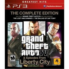 NEW Grand Theft Auto GTA 4 IV (The Complete Edition) PS3 Red Label