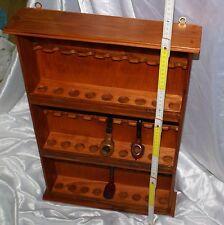 porta pipe a rastrelliera in legno massello per esposizione collezione raccolta