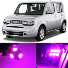 9 x Premium Hot Pink LED Lights Interior Package Kit for Nissan Cube 2009-2014