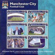 MANCHESTER CITY Football Club Stamp Sheet (2002 Man City Maine Road Tribute)
