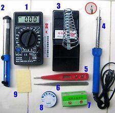 9 pcs Soldering Tool kits Irons DT832 multimeter Desoldering Rosin Solder Tin