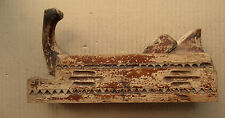 """Soviet Russian Wooden Plane with Ornament 9.5"""""""