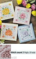 SUMMER ROSE CARDS      -     CROSS STITCH PATTERN  ONLY   A5L2S