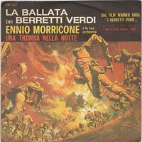 "Ennio Morricone "" Ballad of the Green berets "" Rare Italy 45/ps Sgt Barry Sadler"