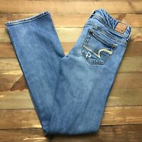 AMERICAN EAGLE SLIM BOOT CUT Jeans Size 0 Short (28 x 30) Medium Rinse Stretch