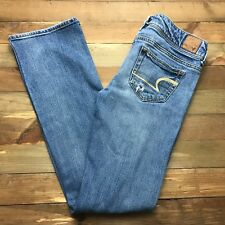 AMERICAN EAGLE SLIM BOOT CUT Womens Jeans Size 0 Short (28 x 30) Medium Wash Mid