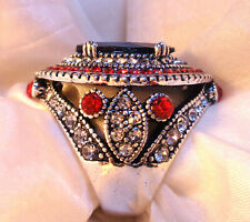 Big Silver Ring Luxury gem Wedding Rings For Women Vintage Bulgaria 7-