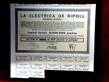 La  Electrica de Ripoll ,Gerona,Spain  1977 acción, share certificate