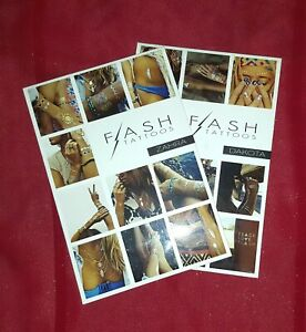Flash tattoos - Zahra and Dakota, Lot of 2 Packages