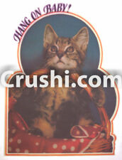 KITTEN HANG ON BABY CAT T-SHIRT IRON-ON UNUSED RARE VTG HEAT TRANSFER VINTAGE