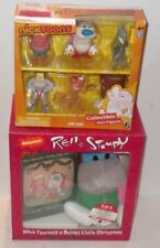 ✰ Ren & Stimpy Collectible Mini Figures Target XCLSV NickToons & STIMPY Plus VHS