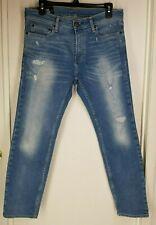 Hollister Mens Denim Skinny Distressed Jeans size W31xL27 Medium Stone Washed