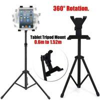 "Adjustable Tripod Stand Holder Bracket For iPad 1 2 3 7""-11"" Tablet FLOOR MOUNT"