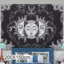Sun and Moon Wall Hanging Tapestry Pattern Art Psychedelic Tapestry Home Decor A