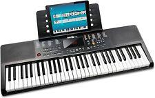 Keyboard RockJam RJ361 Musikinstrument 61-Tasten Klavier Klaviernote schwarz