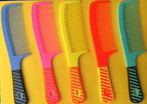 "8"" Hair Styling Handle Comb Wide Tooth - Different Colours"