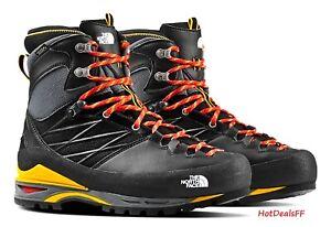 The North Face Men's 8.5 Black Yellow Verto S4K GTX Gore-Tex Mountain Boots $350