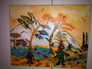 Manni Ludolf - Freunde 40cm x 50cm Acryl auf Leinwand (106)