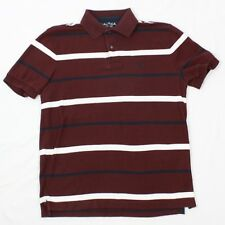 NAUTICA Performance Deck Shirt Classic Fit Polo Size Small S Mens Maroon Rugby T