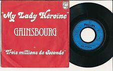 "SERGE GAINSBOURG 45 TOURS 7"" FRANCE MY LADY HEROINE"