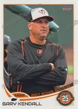2017 Bowie Baysox Gary Kendall Baltimore Orioles MGR