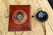 Altes Antikes Holz Wandtelefon