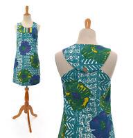 Size 0 XS Vanessa Virginia Anthropologie Womens Teal African Print Dress Boho