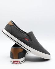 Levi's Mens 10.0 Seaside Ct L Casual Rubber Sole Slip-On Sneaker Shoe Black