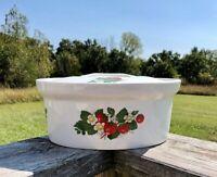 BIA International CORDON Bleu Strawberry Design Porcelain  Casserole Baking Dish